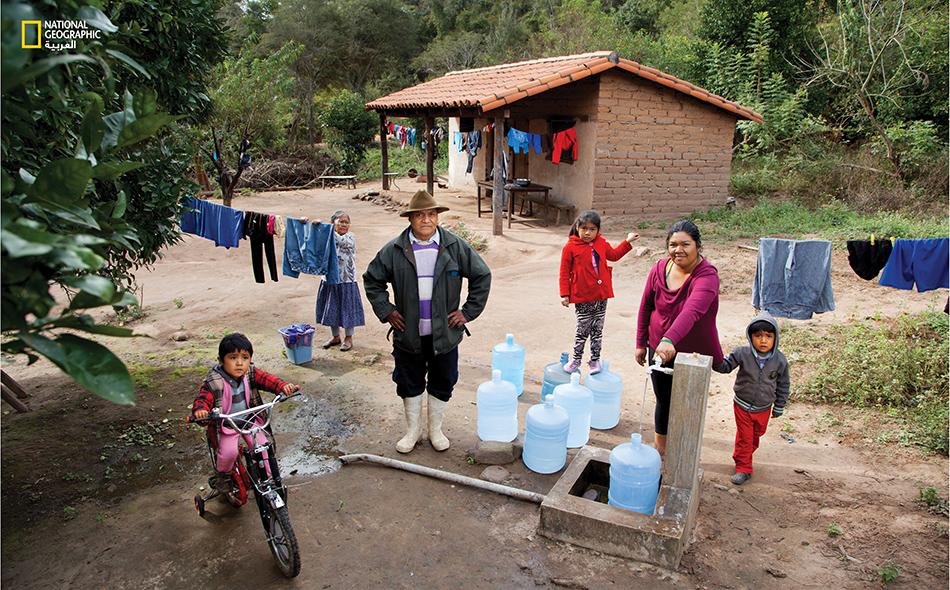 أسرة بوليفية تستهلك 140 ليتر يومياً