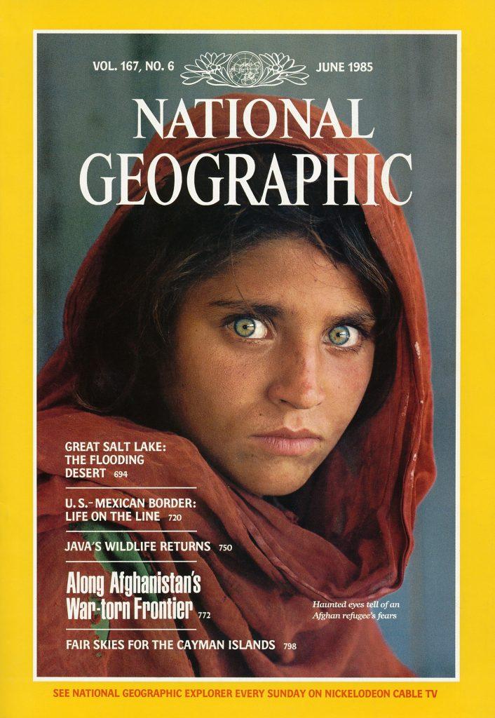 """غلاف مجلة ناشيونال جيوغرافيك وتظهر عليه """"شربات غولا"""""""